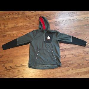 Nike Super Bowl LI 2017 Fly Rush Jacket Grey Large